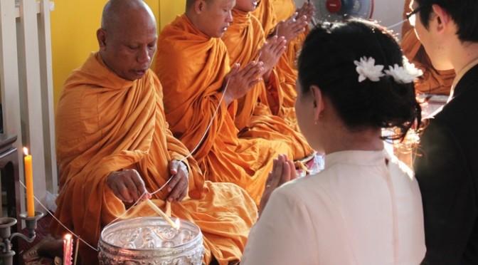 タイのフォーマルな結婚式の様子