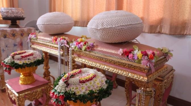 タイの格調高い結婚式の飾り。