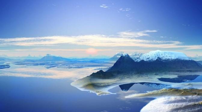 南極大陸の壮大な眺め